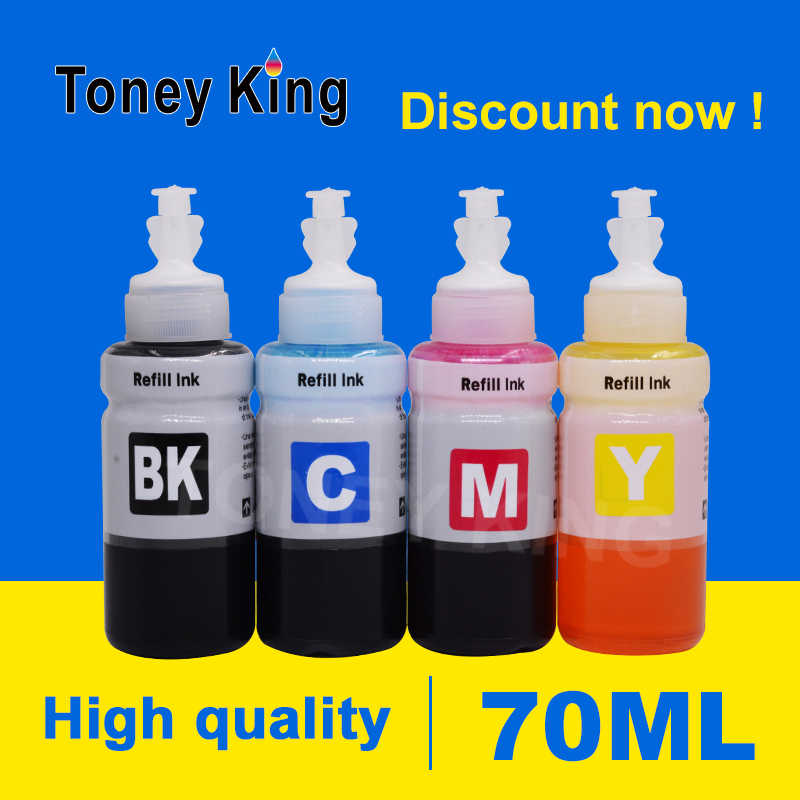 Toney King 70 Ml Printer Inkt untuk CISS Tangki Tinta Isi Ulang Kit Pengganti untuk Epson 664 6641 L100 L101 L110 l120 L200 L201 L210