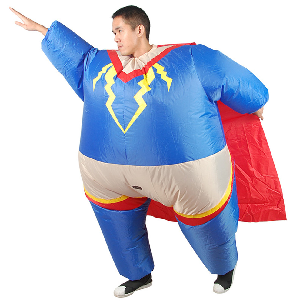 Cosplay Inflatable Superman Clothing Sumo Dress Funny costumes for carnival Halloween party men/women costumes