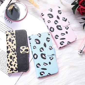 DR.CASE  Leopard PC Leather Holder Phone Case For Samsung Galaxy J8 J7 J6 J5 J4 J3 2018 Flip Case for J5 J4 J6 J7 J8 Plus Coque