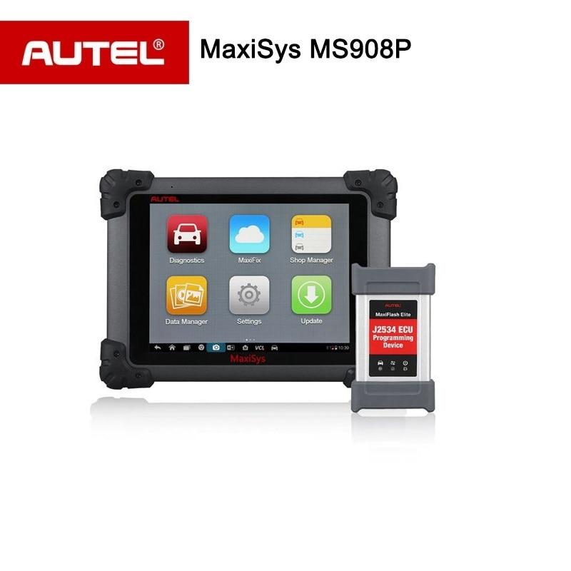 Autel MaxiSYS Pro MS908P ЭБУ программирования сканер с J2534 MS908 P OBDII/2 инструмент диагностики по Wi-Fi Bluetooth