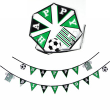 Soccer Birthday Happy Banner Flag World Cup Sports Theme For Kids Party Decoration