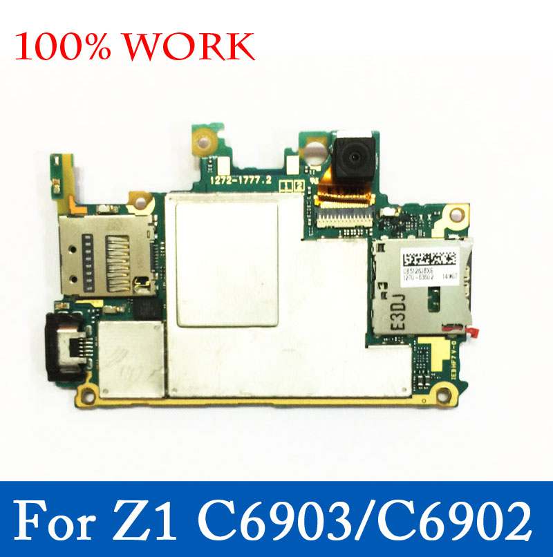 Ymitn unlocked Mobile Electronic Panel Mainboard Motherboard Circuits Flex Cable With OS For Sony Xperia Z1 L39H C6903 C6902