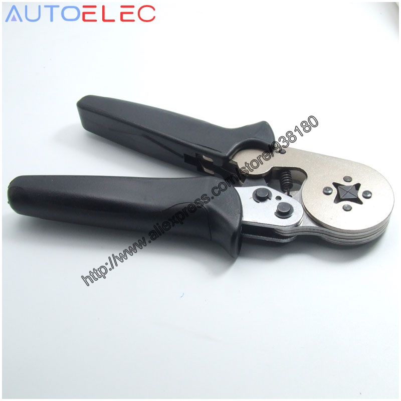 HSC8 6-4A / B خود تنظیم قابل انعطاف پذیری انبردست ابزار دستی 0.25-6mm2 AWG24-10 ترمینال Ferrule crimping چند برای اتصال WBA PCB