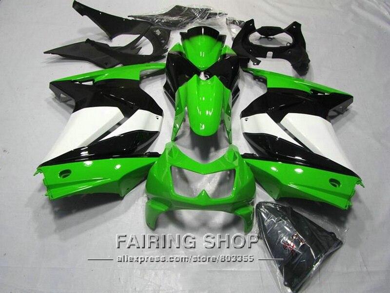 Vert Carrosserie kits Pour Kawasaki Ninja 250r 2008 2014 2009 2013 (Carénage kit) zx250r 08 14 Carénages S149