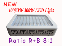 New 1x 300W LED Grow Light 100 3W Red Blue 8 1 Indoor Hydroponic System Plant