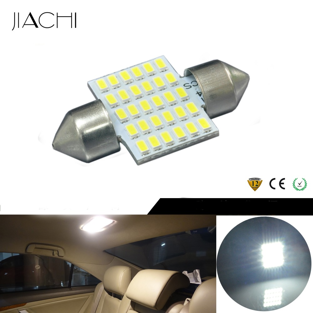 JIACHI 100PCS Lot 31mm Festoon LED C5W DE3175 DE3021 30LEDs Car Dome Light Auto Interior Map