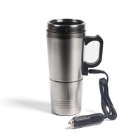 Portable Silver Stainless Steel Car Water Heating Coffee For Thermos Type Hot Drink Water Heater 12V