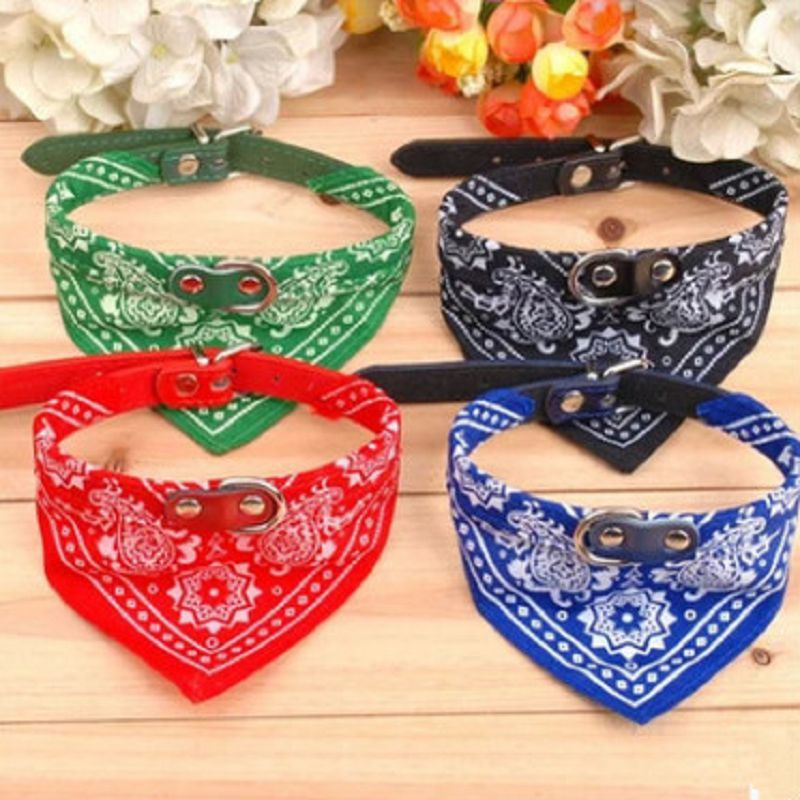 1Pc fashion dog collar Triangular scarf adjustable coleira para cachorro Cat collier pour chien halsband hond harnais chien ...