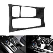 Автомобиль Шестерни Цельнокройное Управление Панель крышка отделка Декоративная рамка Стикеры углеродного волокна для BMW X5 X6 E70 E71 2007-2013