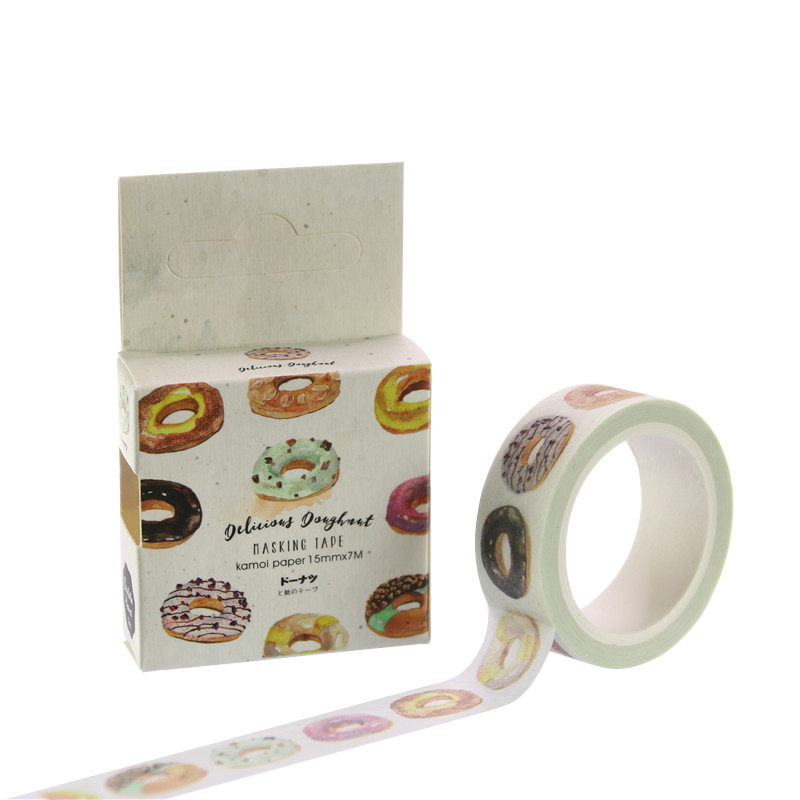 1 PC New The Delicious Donut Decorative Washi Tape Diy Scrapbooking Masking Tape School Office Supply Escolar Papelaria H1619