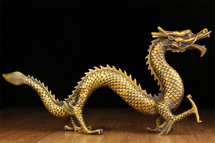50CM large #2019 home business TOP protective-efficacious Talisman office Protection Money Drawing Dragon FENG SHUI Brass statue50CM large #2019 home business TOP protective-efficacious Talisman office Protection Money Drawing Dragon FENG SHUI Brass statue