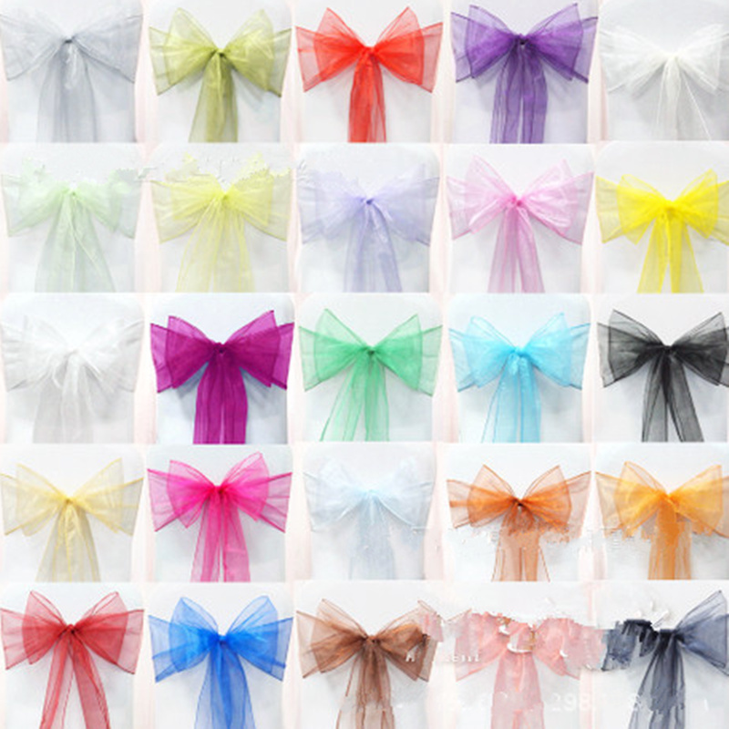 18 Color Diy Wedding Chair Covers Sashes Bow Erfly Ribbon For Party Birthday Enterpieces Decoration From Reliable Decor Table Suppliers On
