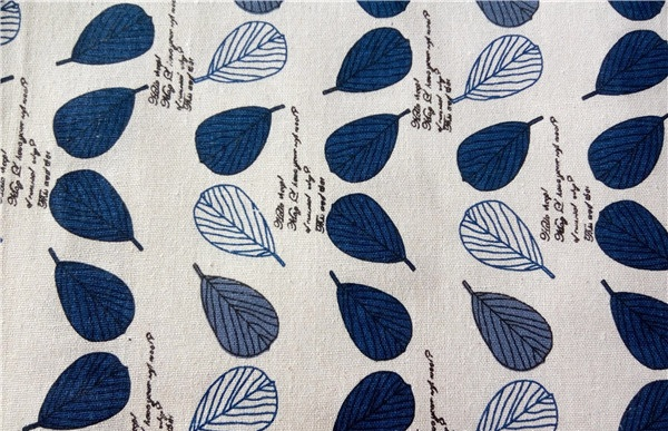 cotton & linen freeship for 5*1.5m tolie fabric,leaf letter prints, for cushion,bag,table cloth,napkin,tea towel.zakka