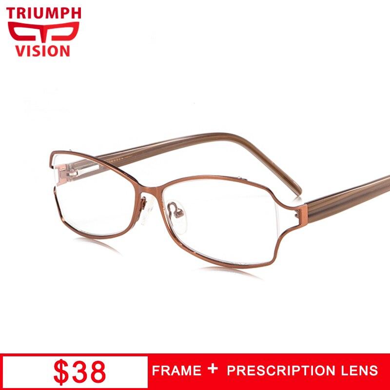 TRIUMPH VISION Butterfly Prescription Glasses Women Myopia Eyeglasses Reading Glasses Progressive Anti Blue Ray Diopter Eyewear