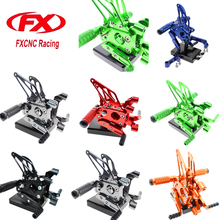 FXCNC Aluminum Adjustable Motorcycle Rearset Footrests Pegs Foot Peg Rear Set For Ducati 1199 Panigale S 2012-2014 2013