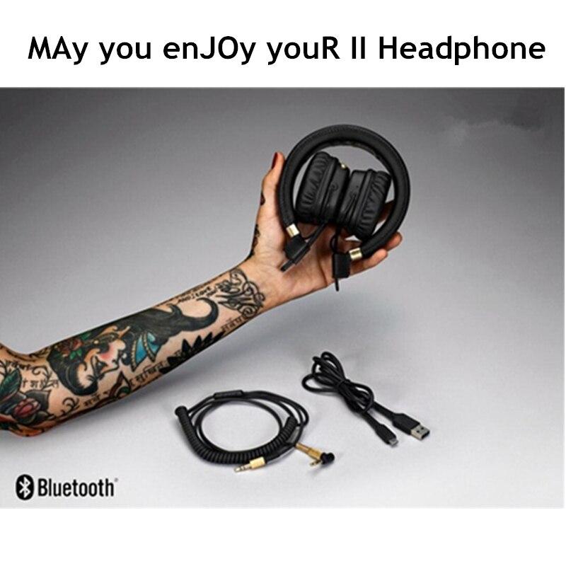 In Stock Major II Wireless Bluetooth Headphones 2nd major headsets earphones for marshall High Quality Professional HiFi Black наушники bluetooth bose quietcomfort 35 ii wireless headphones black