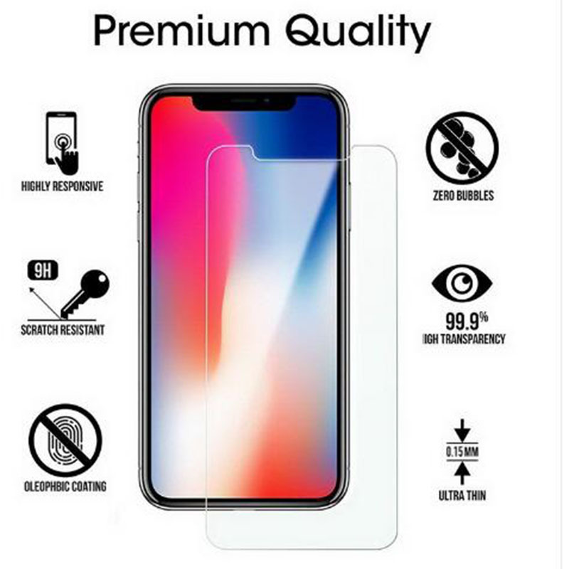 Tempered Glass For IPhone XSMax X 7 8 6 6S Plus 5 5S  4S 9H Screen Protector Flim Cover Guard Glass For IPhone X XS Max XR