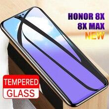 Verre trempé 2 pièces pour Huawei Honor 8X/8X protecteur décran Max 9H 2.5D verre Anti Blu ray pour Huawei Honor 8X film de verre Max