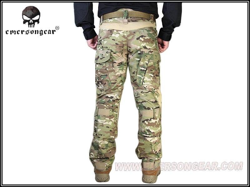 Emerson G2 pantalones tácticos con rodilleras Airsoft entrenamiento de combate Multicam EM7038MC - 6