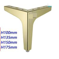 Hardware Sofa Foot Iron Cabinet Triangle Metal Furniture Golden Trident Legs Kitchen Table And Chairs Chair Feet Covers