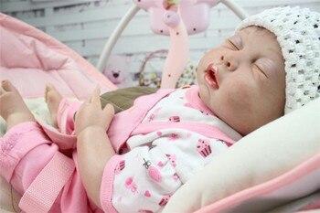 50CM Reborn Baby dolls 100% silicone Body full handmade newborn baby real alive doll  toys soft girls gift