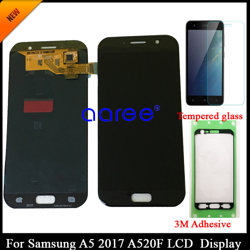 100 tested Super AMOLED For Samsung A5 2017 A520 LCD Display For Samsung A520 Display LCD