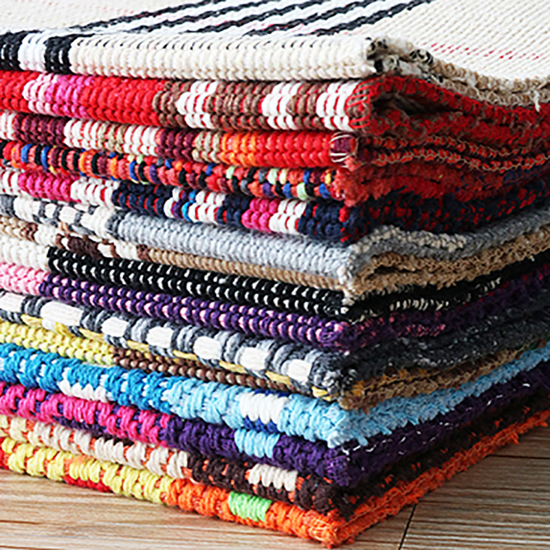 Reversible Hand Woven Cotton Rug Machine Washable Durable Throw Rugs For Bedroom,Living Room, Kitchen, Laundry Room,Hallway,Bath