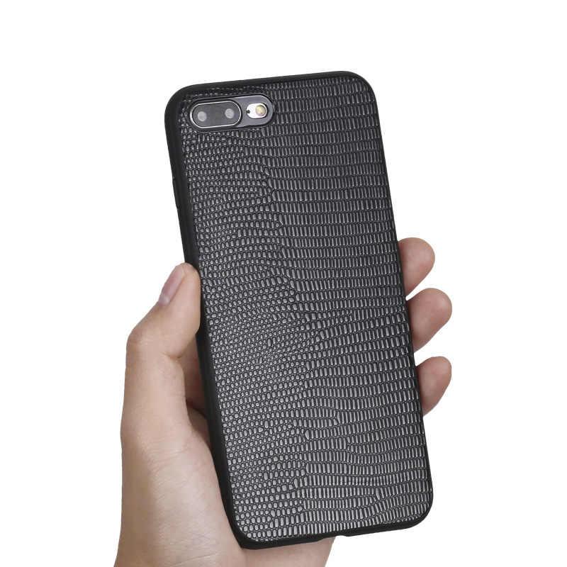 Couro natural caso do telefone móvel para o iphone 11 11 pro 11 pro max x xs xr max 8 8plus 7 mais 6s 5 5S se 360 capa protetora