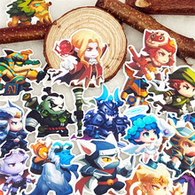 20 pcs Mixed warrior with monster Waterproof laptap stickers for Home decor on laptop decal fridge skateboard doodle toy sticker 55pcs mixed retro style travel hotel logo roma paris los japan chicago hawaii baghdad trip car sticker waterproof doodle decal