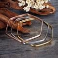 Kalen Multi-strand Prism Women Bangles 3pcs/set  Tri-Color Silver Color Gold Rose Gold Plated Stainless Steel Bangle Bracelet
