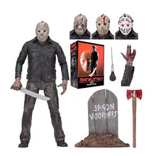 NECA Originele Friday The 13th PartV Part5 EEN Nieuw Begin Jason Voorhees Action Figure Inbare Model Speelgoed(China)