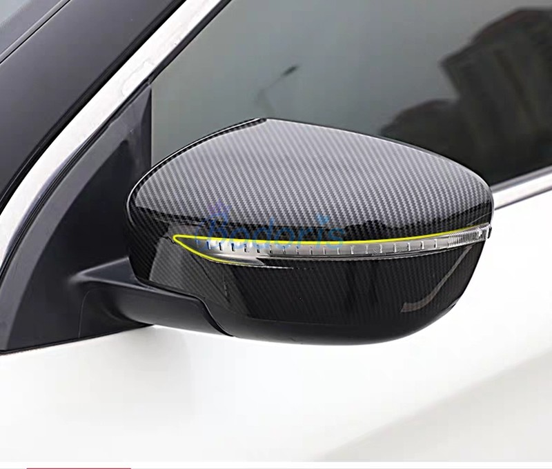 Carbon Fiber Car Styling Door Mirror Cover Rearview Overlay Panel Trim 2016 2017 2018 For Nissan Qashqai Rogue Sport Accessories in Chromium Styling from Automobiles Motorcycles