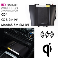 For Mazda 3 QI Wireless charging Hidden Wireless charger Phone Holder Storage Box For CX 4 CX 5 2th KF Mazda3 3th BM BN