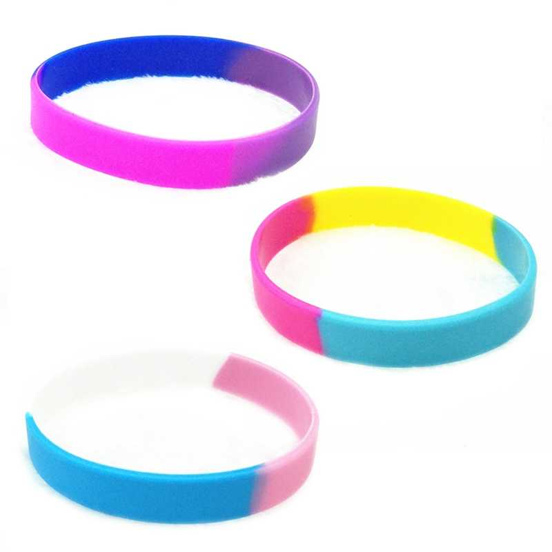 1 PC Gay Pride Rainbow Silicone Bracelets Lesbian Trans Pride Bisexual Flag Silicone Wristband Bracelet Support Gay Lesbian