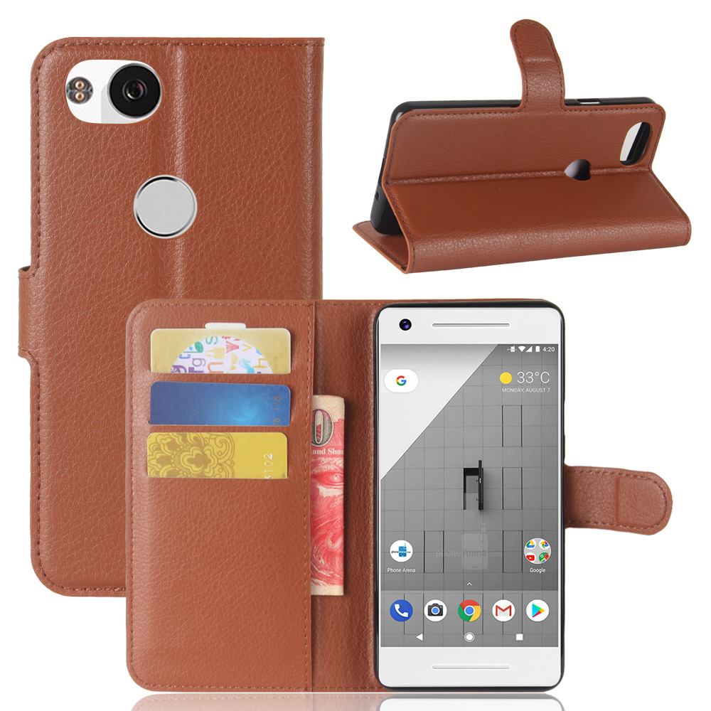 Wallet Style PU Leather Case For Google Pixel 2 XL 2XL Flip Leather Pouch Full New Phone Bag Cover For Google Pixel 2