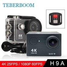 TEBERBOOM H9A Câmera Ação wi-fi Ultra HD MiNi Cam 4 k subaquática à prova d' água Câmera De Vídeo de Esportes