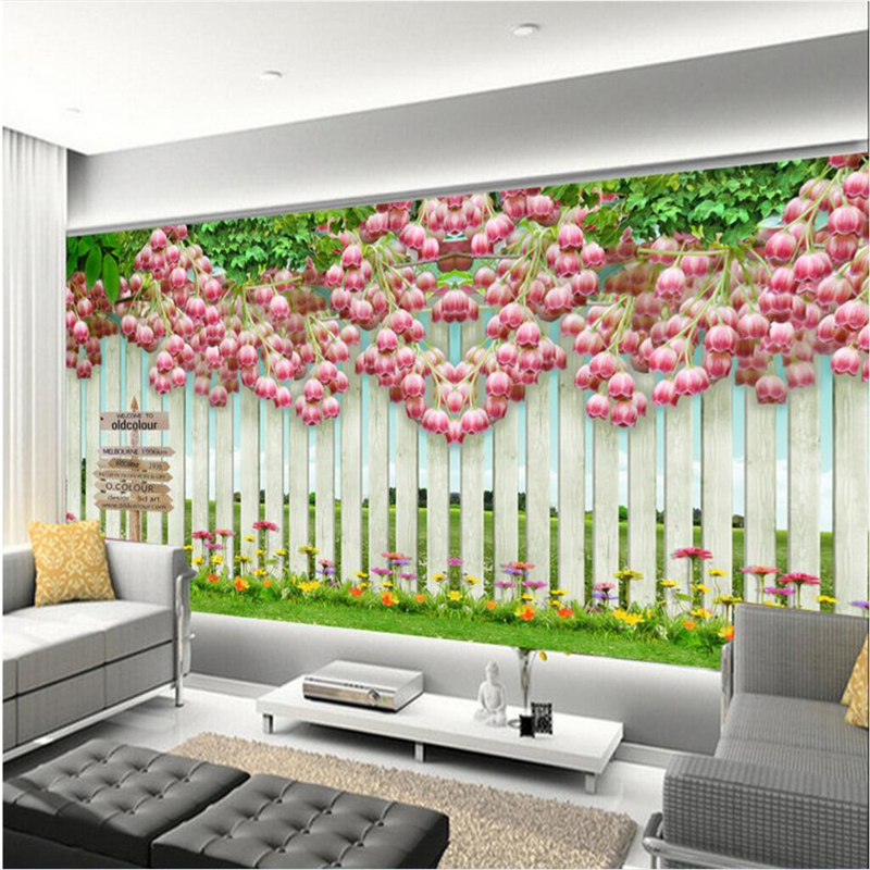 Beibehang Large Custom Wallpaper Mural Bell Flower Eternal Love Green Warm  Spring TV Background Wall Photo Wallpaper In Wallpapers From Home  Improvement On ... Awesome Ideas