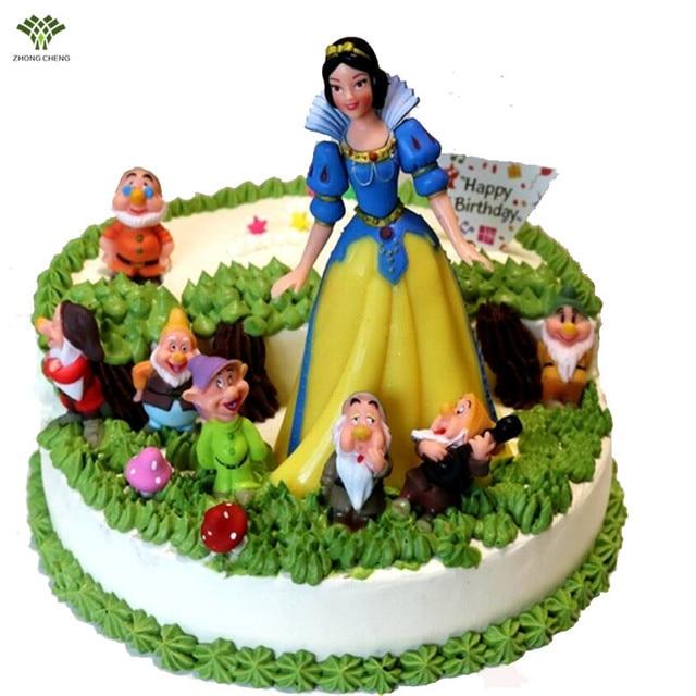 Snow White Die Sieben Zwerge Birthday Cake Topper Elsa Anna Geburtstagstorte Dekoration Prinzessin Action
