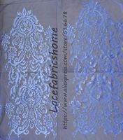 Quality embroidery off white 3d handmade lace fabric for Dress sewing Options Wedding Dress Gown 35cm*110cm by piece