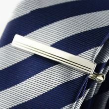 Novelty Fashion Wrench Shape Metal Tie Clip Holder Clasp Mens Bar Pin Plain Silver Color