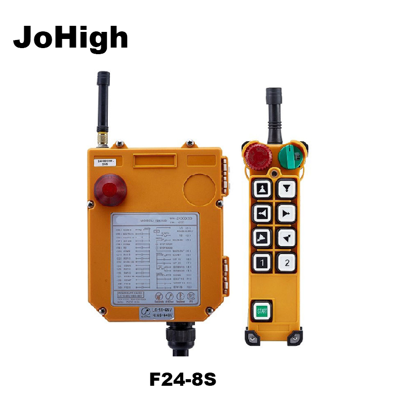 JoHigh Crane Wireless Remote Control 220v  F24-8S Single Speed 315Mhz 1 transmitter+ 1 receiver JoHigh Crane Wireless Remote Control 220v  F24-8S Single Speed 315Mhz 1 transmitter+ 1 receiver