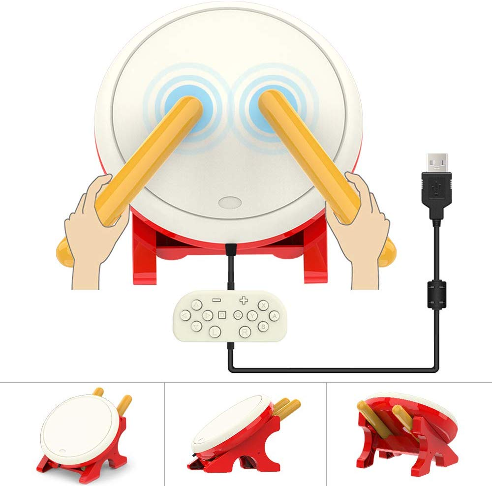 Contrôleur de tambour match pour Nintendo Switch jeu vidéo tambour maître contrôleur Set Console accessoires de jeu bâton de tambour