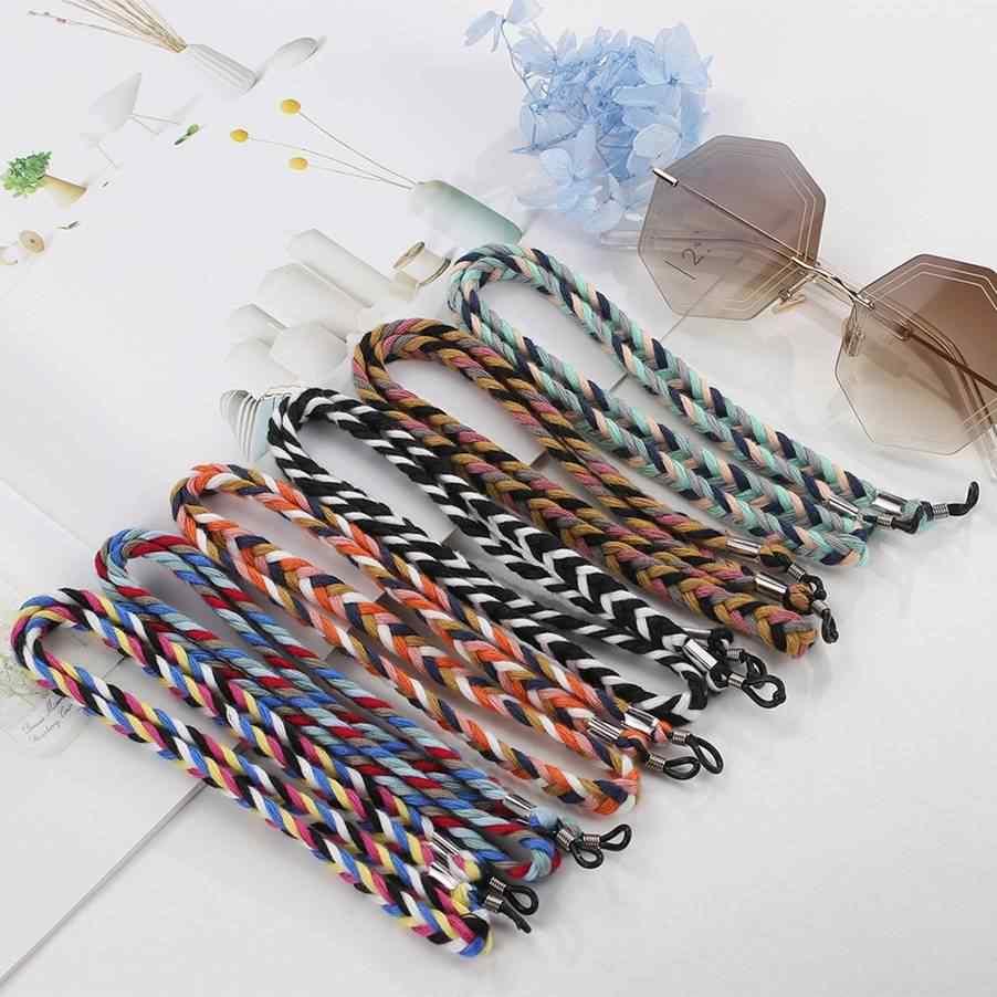 Lolita corda de óculos de sol unissex, corrente de olho de pendurar, retrô, antiderrapante, grossa cordão