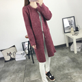 Free Shipping Long Sleeve  Sweater Women 2017 Autumn Winter Fashion Camouflage Striped Long Knitted Female Cardigan Women Coat