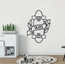 adce8cd026c5 Skateboard Vinyl Wall Sticker Teen Quote Skating Sports Vinyl Wall Decals  Home Decor Skate Design Removable Wall Mural AY1381