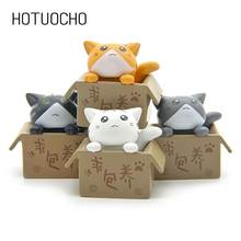 Hotuocho 4pcs Cute Cat Miniature Ornament Garden Ornament Gift Craft For Kids Friends Home Decor Accessories Miniature Figurines(China)