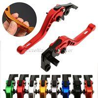 8 Colors Top CNC Aluminum 3D Adjustable Motorbike Short Brake Clutch Lever For Suzuki GS 500