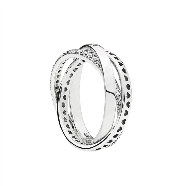 1bbb7d59e ... where can i buy real 925 sterling silver original hearts of pandora  halo signature circles ring