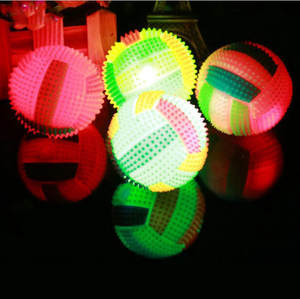 Hiinst light Toys 1PCS LED Plastic Volleyball Flashing Light Up Random Color Changing Bouncing Hedgehog Ball Kids Toys For Kid