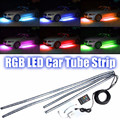 4x 36 LED DC 12V Auto RGB LED Decorative Strip Car Tube Underbody Glow System Neon Light Kit Atmosphere Lamp + Remote Controller